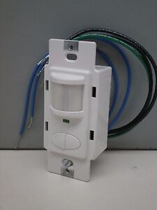Sensor Switch Wsd 2p w Decorator Wall Switch Occupancy Sensor 2 pole White