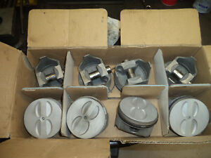 Chevy 350 Trw L2256 020 Forged Pistons Set Of 8 Used