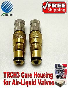 Tractor Air Water Tire Valve Stems Core Housing Trch3 New Set Of 2