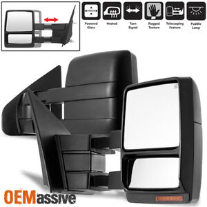 Fit 2004 2006 Ford F150 Pickup Extendable Led Turn Signal Power Towing Mirror