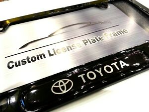 License Plate Frame For Toyota Gloss Black 86 Camry Echo Rav4 Highlander Yaris