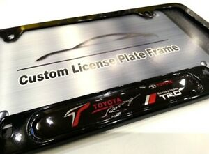 License Plate Frame For Toyota Racing Gloss Black Trd 86 Vitz Supra Celica Is Es