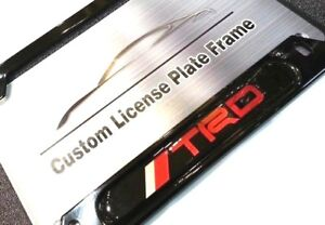License Plate Frame For Trd Gloss Black Toyota Lexus 86 Frs Is Es Gs Supra Yaris
