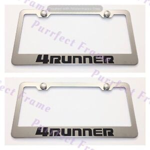 2x Toyota 4 Runner Stainless Steel License Plate Frame Rust Free W Boltcap