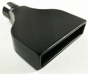 Exhaust Tip 7 75 X 2 25 Outlet 10 00 Long 2 50 Inlet Rolled Rectangle Black S