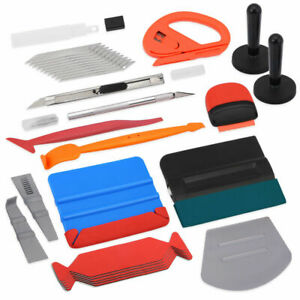 Pro Vinyl Wrap Tools Kit Squeegee Felt Razor Scraper Snitty Cutter Window Tint