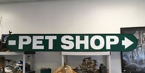 Custom Large Pet Store Outdoor Lighted Sign 8 Huge Green Animals Shop Business