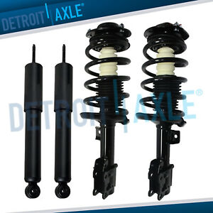 Set Of 4 New Complete Front Quick Struts W Spring Mounts And Rear Shocks
