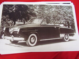 1950 Studebaker Champion Convertible Big 11 X 17 Photo Picture