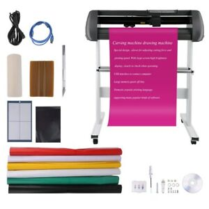 34 Vinyl Cutter Sign Cutting Plotter Printer Sticker Craft Cut 3 Blades On Sale