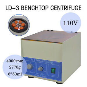 Super New Ld 3 Electric Benchtop Centrifuge Lab Medical Practice 4000rpm 6 50ml