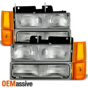 Fit 94 99 Gmc C k Pickup Suburban Sierra Headlights bumper corner Signal Lights