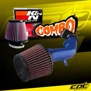 For 08 12 Chevy Malibu 2 4l With Air Pump Blue Cold Air Intake K