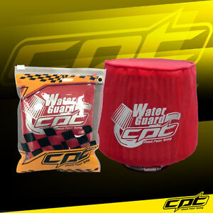Universal Water Guard Cold Air Intake Pre Filter Cone Filter Cover Red Small
