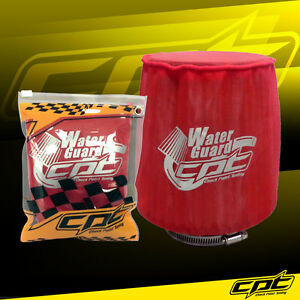 Water Guard Cold Air Intake Pre Filter Cone Filter Cover For Honda Medium Red