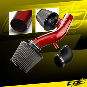 For 08 12 Chevy Malibu 2 4l W o Air Pump Red Cold Air Intake Stainless Filter