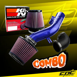 For 08 12 Chevy Malibu 2 4l W o Air Pump Blue Cold Air Intake K