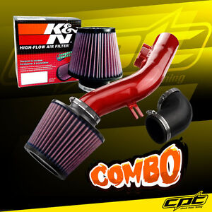For 08 10 Pontiac G6 2 4l Without Air Pump Red Cold Air Intake K