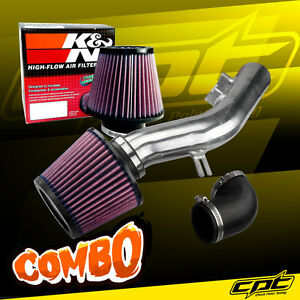 For 08 12 Chevy Malibu 2 4l W o Air Pump Polish Cold Air Intake K