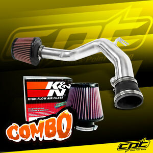 For 99 05 Vw Golf Gti Vr6 V6 2 8l Polish Cold Air Intake K N Air Filter