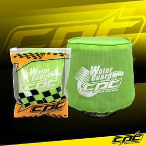 Water Guard Cold Air Intake Pre Filter Cone Filter Cover For Mazda Small Green