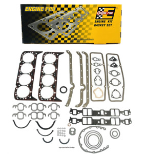 Engine Pro Chevy Sbc Overhaul Gasket Set Kit 283 302 307 327 350 5 7l 2 Pc