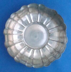 Reed Barton 500 Silverplate Fluted Bon Bon Bowl Candy Dish 1939