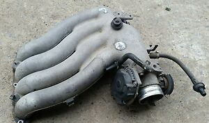 1999 Vw Beetle Upper Intake Manifold Plenum 2 0l With Throttle Body Assembly