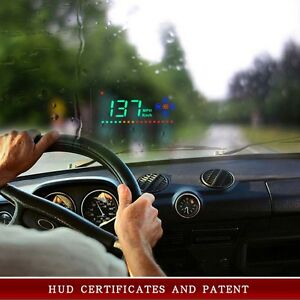 Universal Gps Hud Digital Head Up Display Car Speeding Warning Plug