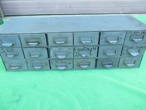 Steel Metal Cabinet 18 Drawer Steel Part Hardware Tooling Storage Bin Organize 7