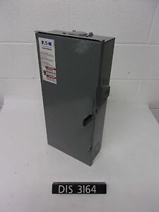 Eaton 240 Volt 100 Amp Fused Disconnect Safety Switch dis3164