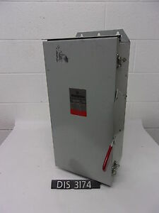 New Other Westinghouse 240 Volt 100 Amp Fused Disconnect Safety Switch dis3174