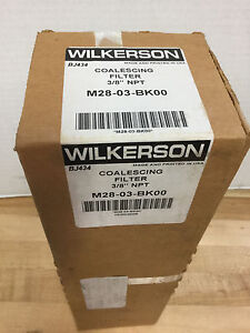 Wilkerson M28 03 bk00 Coalescing Filter 3 8 Npt new