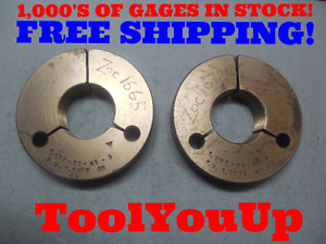 1 582 32 Ns 3 Thread Ring Gages 32 0 3 0 Go No Go P d s 1 5617