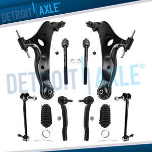 10pc Front Lower Control Arm Suspension Kit For 2004 2005 2010 Toyota Sienna