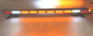 50 Led Amber Light Bar Flat Bed Tow Truck Plow Ems Pilot Car Turn Signal