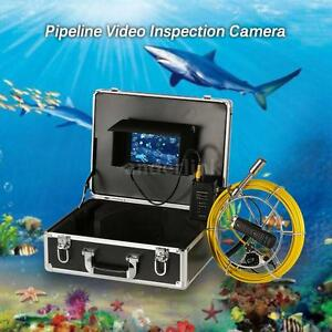 7 Lcd Monitor Pipeline Video Inspection Camera Drain Pipe Waterproof New K3i1