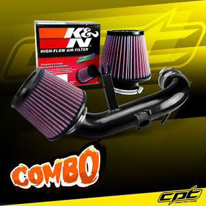 For 08 13 Lancer 2 0l 4cyl Non turbo Black Cold Air Intake K n Air Filter