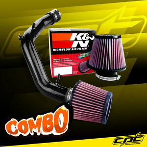 For 01 06 Vw Golf Gti 1 8t 1 8l 4cyl Black Cold Air Intake K N Air Filter
