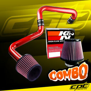 01 05 Honda Civic Automatic 1 7l Red Cold Air Intake K N Air Filter