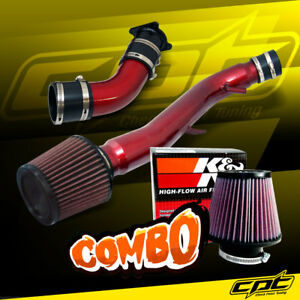 For 03 07 G35 3 5l V6 Automatic Red Cold Air Intake K N Air Filter