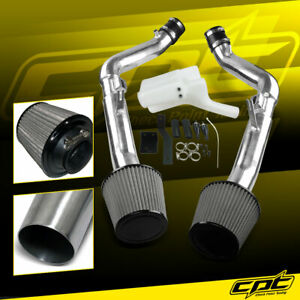 For 07 08 G35 4dr Mt 3 5l V6 Polish Cold Air Intake Stainless Steel Air Filter