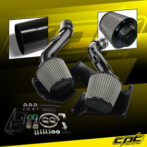 For 07 09 350z V6 3 5l Black Cold Air Intake Stainless Steel Air Filter