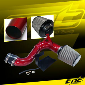 For 11 14 Optima Turbo 2 0l 4cyl Red Cold Air Intake Stainless Air Filter