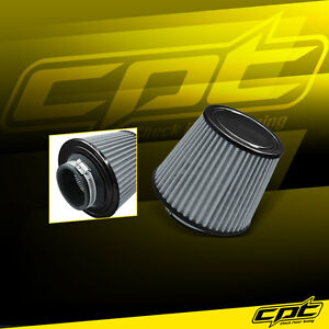 3 5 Stainless Steel Cold Air Short Ram Cone Intake Filter Black Universal