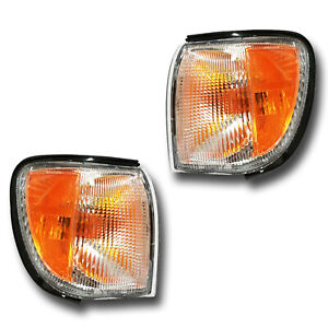 Fits 00 04 Nissan Pathfinder Driver Passenger Parking Signal Light Lamp 1 Pair