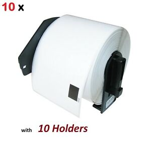 10 Pack Dk 1202 Compatible Label With Holders Brother Ql 570 Ql 700 Ql 720 Ql650