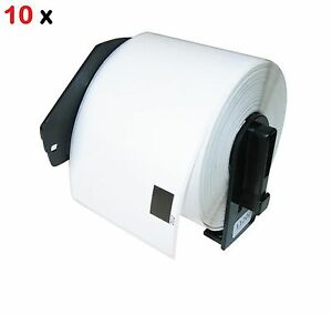 10 Pack Dk 1208 Compatible Label With Holders Brother Ql 570 Ql 700 Ql 720 Ql650
