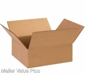 25 13 X 13 X 4 Corrugated Shipping Boxes Packing Storage Cartons Cardboard Box