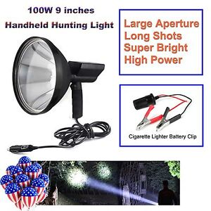 100w Handheld Hid 9 240mm Xenon Spotlight Driving Lights Hunting Search Lamp